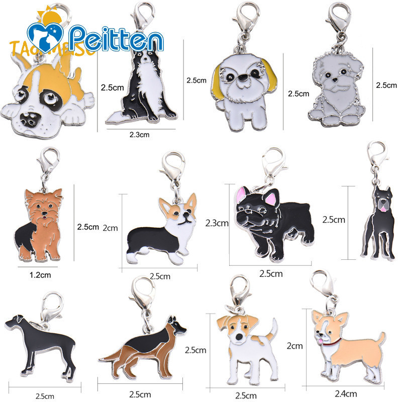 Pet Dog Puppy Collar Pet Identity Tag ID Card for Grean Dane German Shepherd Dog French Bulldog hanging accessory collar