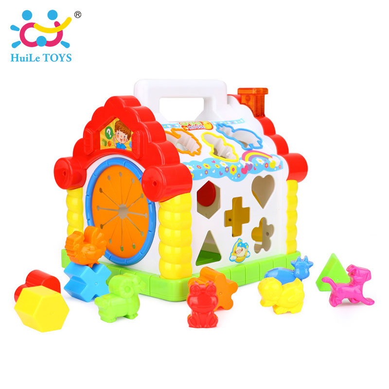 HUILE-TOYS-739-Multifunctional-Musical-Toys-Baby-Fun-House-Musical-Electronic-Geometric-Blocks-Sorting-Learning-Educational-Toys-2