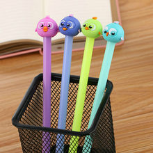 1pcs Kawaii office ballpoint pen Creative cute bird pattern school stationery Supplies Black ink 0.5mm Pen refill(China)
