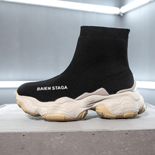 Sock Sneaker Women High Top Sneakers White Chunky Ladies Autumn 2019 New Black Breathable Platform Shoes