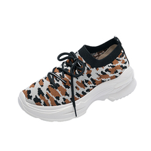 Fujin Sneakers Womens Fashion Shoes  Platform 2019 New Thick Bottom Leopard for Women Spring