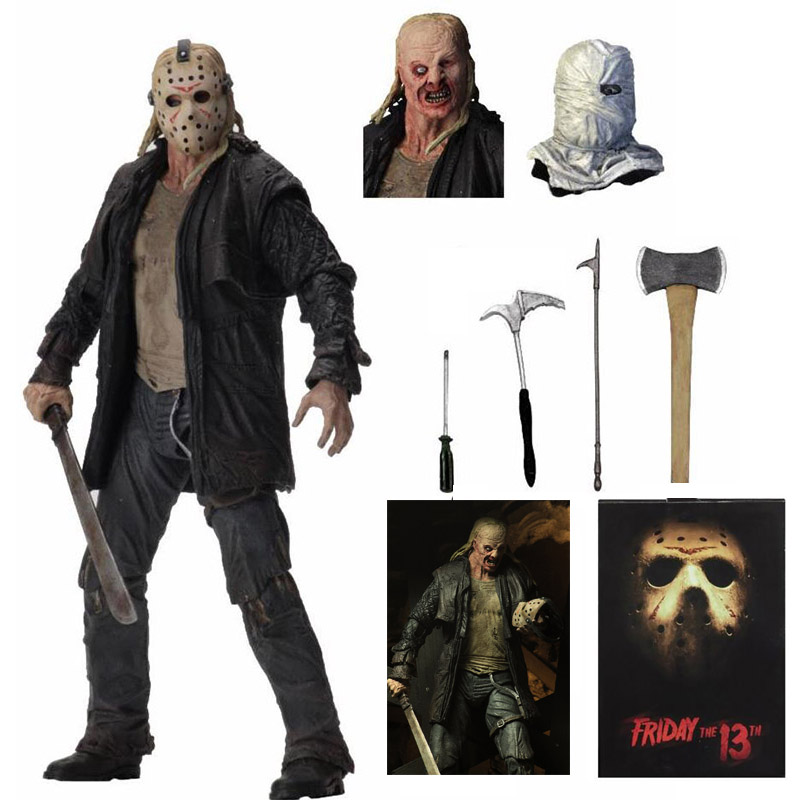 Original NECA Friday The 13th Jason 2009 Remake Voorhees Deluxe Edition Ultimate Action Figure Toy Horror Gift
