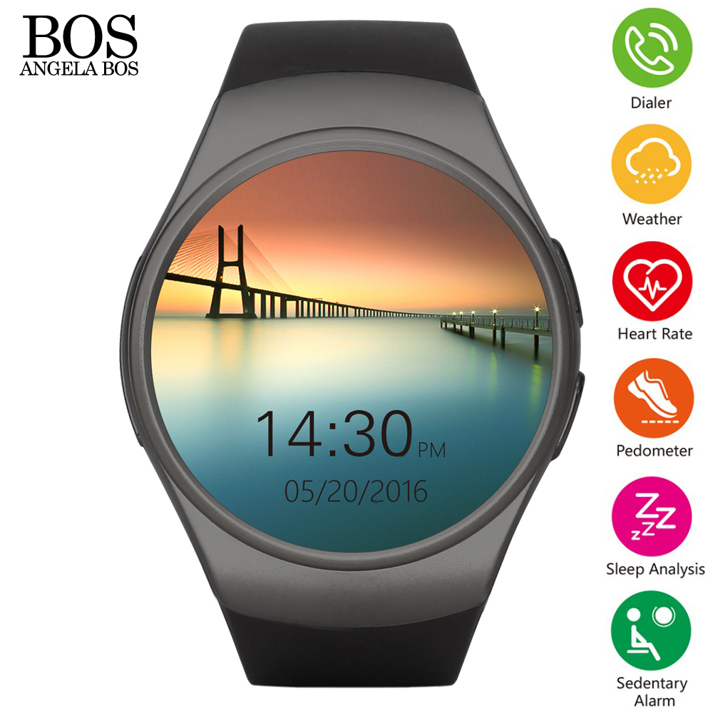 Smartwatch 2016 Health Heart Rate Monitor Android Smart font b Watch b font Sim Card Phone