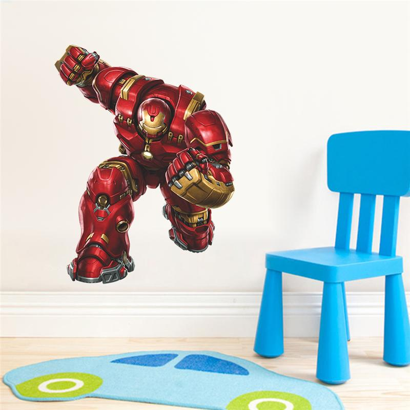 Magnificent Us 3 0 20 Off Ironman Wall Stickers For Kids Room Bedroom Home Decoration 3D Super Hero Avengers Mural Art Diy Boys Wall Decals Poster In Wall Theyellowbook Wood Chair Design Ideas Theyellowbookinfo