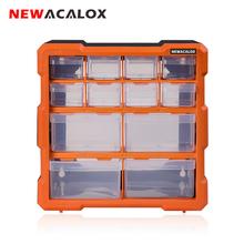 NEWACALOX organizery narzędzi 2-22PC szuflada skrzynka narzędziowa do montażu na ścianie sprzęt plastikowy przyrząd schowek na okulary Box wielofunkcyjny zestaw narzędzi do naprawy tanie tanio Z tworzywa sztucznego N-15029 Orange Black