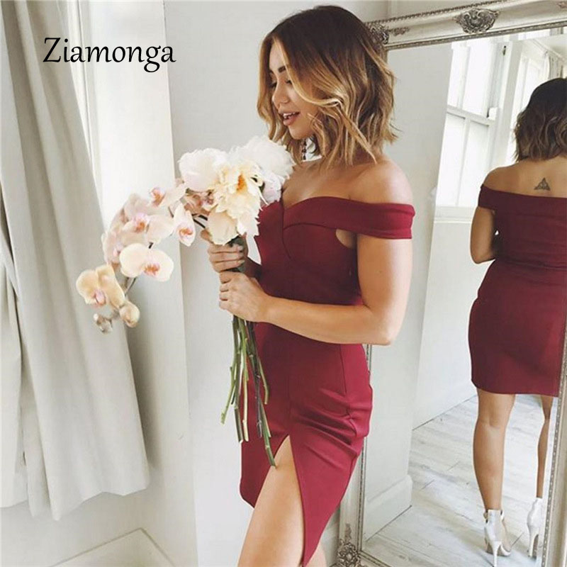 HTB1ZDLTXuEJL1JjSZFGq6y6OXXaf - Ziamonga Women Autumn Dress Winter Black Red Off Shoulder Backless Tunic Party Dress Sexy Robe Femme Bodycon Bandage Dress