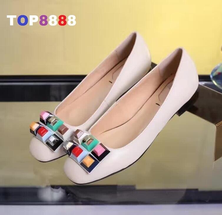 ФОТО Hot Rainbow Colorful Lady Fashion Round Toe Genuine Leather Flat Shoes Elegant Comfortable Lady Casual Famous Brand Shoe ML3487