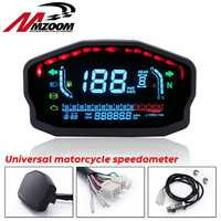 Universal Motorcycle LED LCD Speedometer Digital Odometer Backlight For 1,2,4 Cylinders For BMW Honda Ducati Kawasaki Yamaha