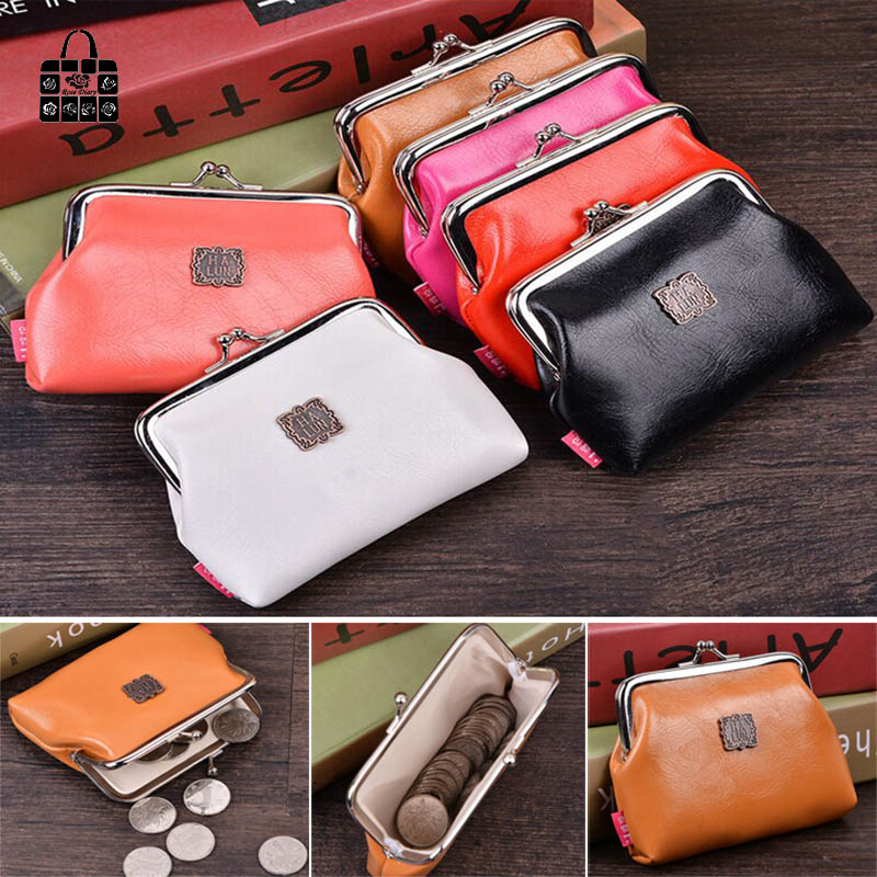 RoseDiary Women Cute pure color Coin Purse PU Leather Small Clutch Wristlet Wallet Girls Change Pocket Pouch Hasp Bag Keys Case rosediary cute owls pu leather waterproof zipper coin purse women clutch lady wallet phone pocket pouch bag keys cosmetic holder