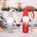 Нетканый чехол для бутылки вина Подарочная сумка держатель Рождество Новый год праздник дома вечерние обеденный стол Декор Рождественское...