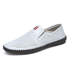 Mens casual single shoes hollow breathable lazy peas 2019 summer tide set foot