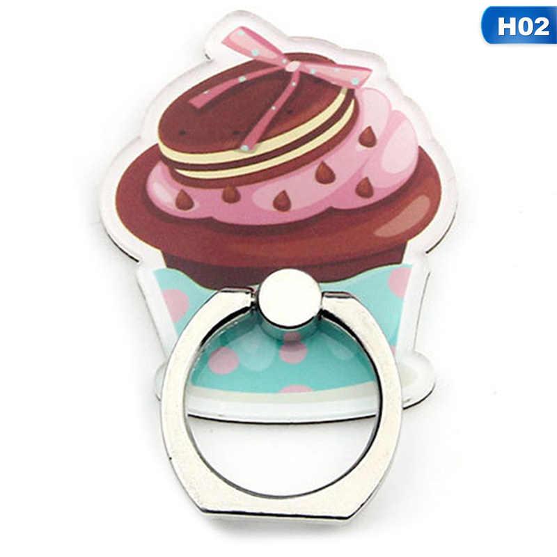 UVR AUTOFENSTERTÖNUNG Handy Ständer Halter Finger Ring Smartphone Süßigkeiten Cookie Burger Lebensmittel Halter Shark Lion Stehen Für Alle Telefon