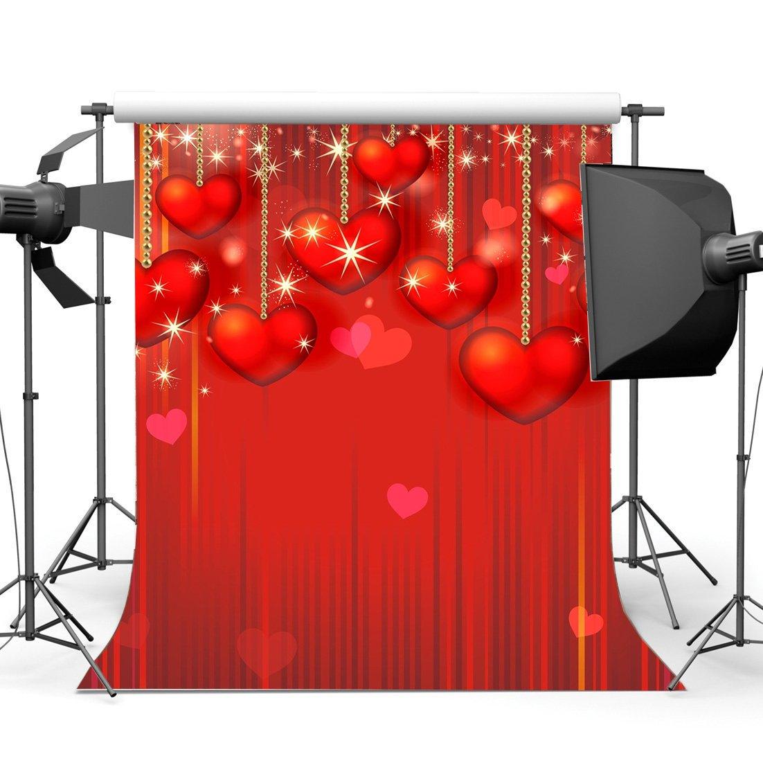 День Святого Валентина фон струны Красные Сладкие сердца блики яркий блеск пятна для романтической свадьбы, вечеринки украшения фотографии фон-in Аксессуары для фотостудии from Бытовая электроника
