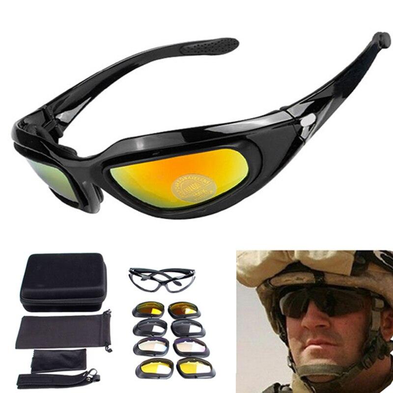 Prix pour C5 Militaire Lunettes 4 Lentilles Sports de Plein Air lunettes de Soleil
