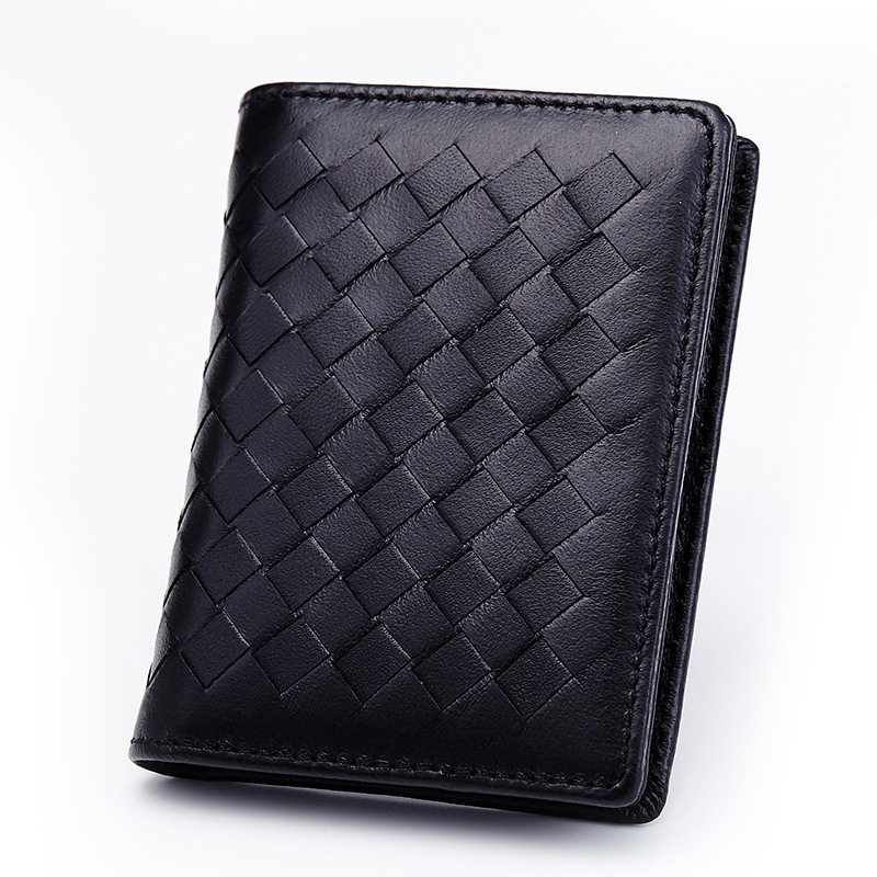 Credit Card Fashion Large Capacity Women Men Holder Genuine Leather Business Travel Case Soft  Sheepskin ID Coin Purse