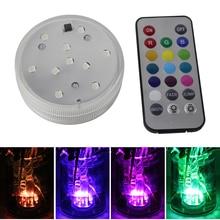 BORUiT 10 светодиодный Погружной подводный свет водонепроницаемый RGB плавательный бассейн свет дистанционное управление аквариум подсветка для аквариума лампа