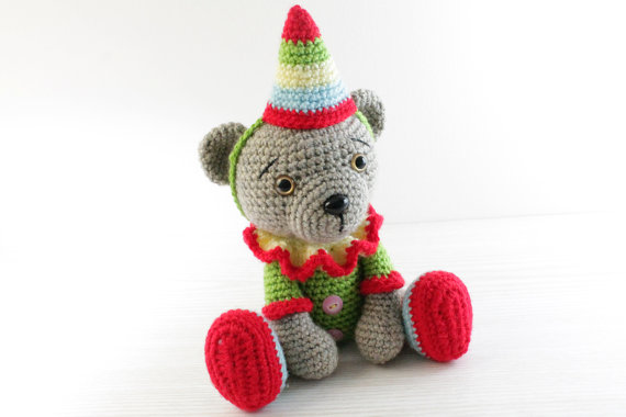 Amigurumi Christmas : Bear crochet amigurumi christmas gift stuffed animals dolltoybaby