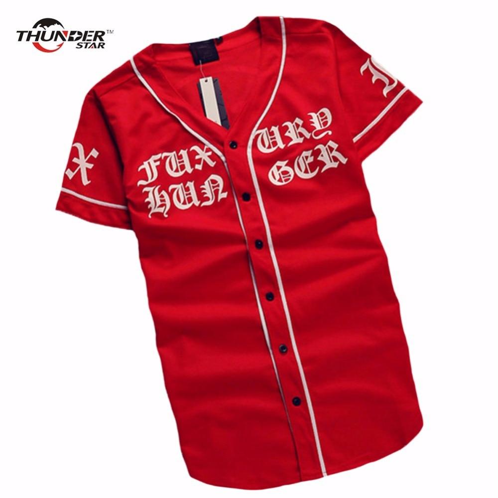 Été Mens Vintage T shirts 2018 Streetwear Hip Hop baseball jersey - Vêtements pour hommes - Photo 3