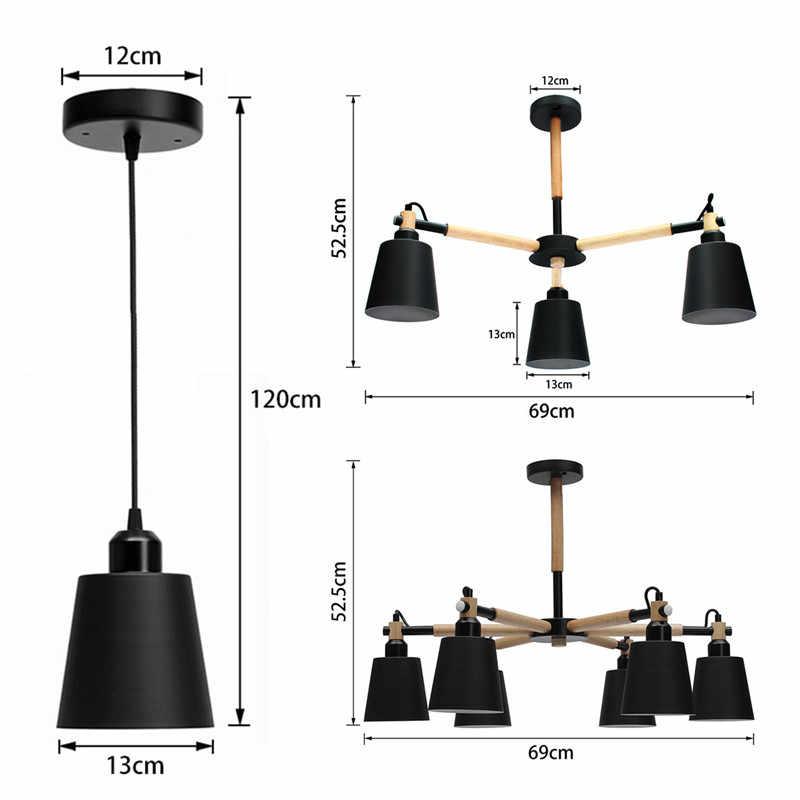 Smuxi E27 LED Moderen Kayu Lampu Gantung untuk Ruang Tamu Suspendsion Pencahayaan Kayu Luster 110 V-240 V