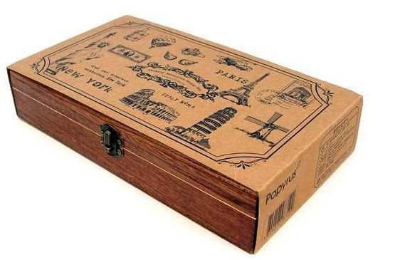 Wholesale wood travel memories stamp gift stamp wooden for Diy decorative wood boxes
