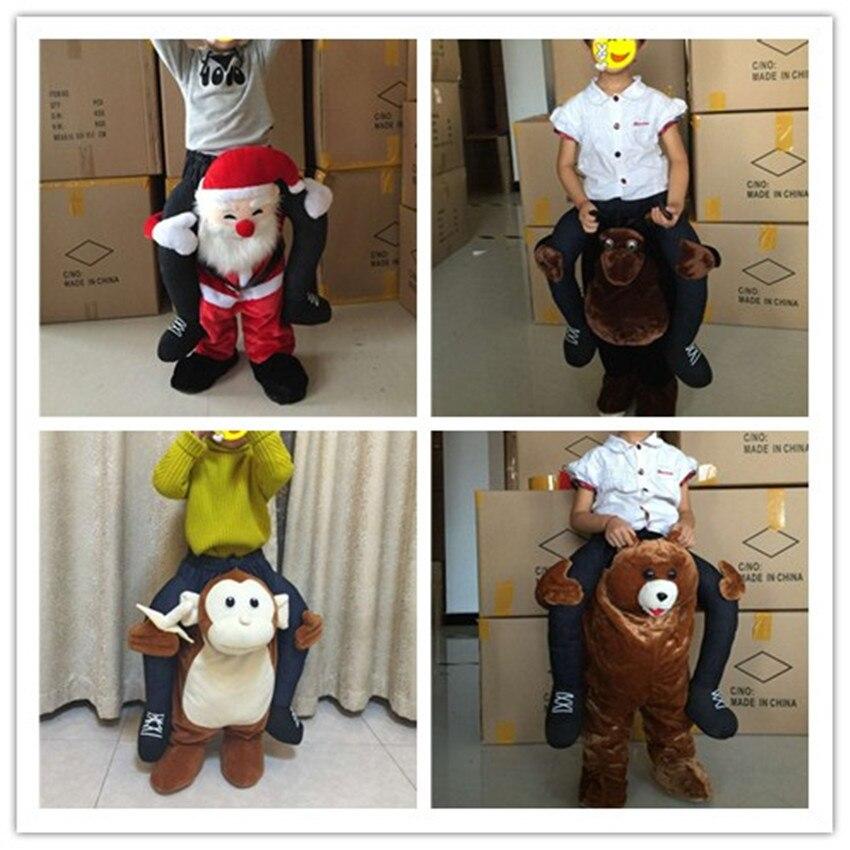 Drôle Cosplay Donald Trump noël Halloween fête cheval Ride vêtements nouveauté transporter en plein air jouets cadeau pour les enfants
