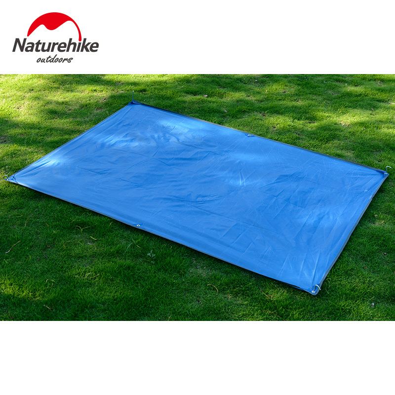 two people use tent mat oxford outdoor  shade-shed picnic blanket oxford fabric mat Non-toxic no odor green sky blue