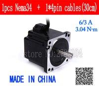 86 Stepper Motor 2 PHASE 4 lead Nema34 motor 86BYGH High torque 67.5MM 6.0A 3.04N.M LOW NOISE motor for CNC XYZ