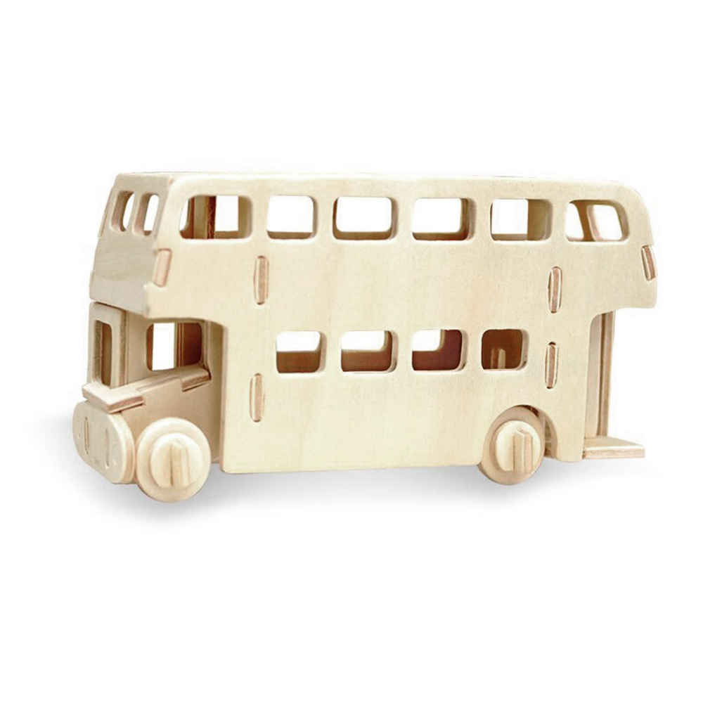 Robotime Bus 3D Wooden Puzzle Environmental Assemble Toy Educational Game Enhance Hands-On Ability And Creation