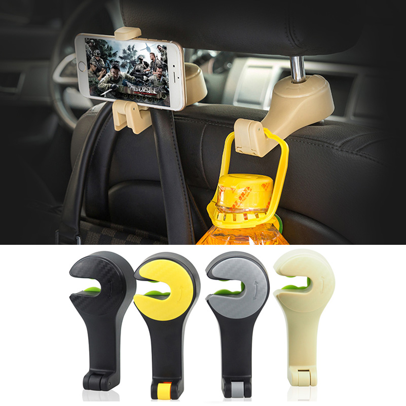 Car Seat Back Hooks Cellphone Holder Storage for VW Golf 4 5 6 Passat B5 B6 B7 Polo CC GTI Tiguan Jetta MK4 Touareg Caddy Sharan