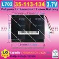 [L702] 3.7 V 7500 mAh [35113134] NTC, Polímero de iões de lítio/bateria de Iões de lítio para PODER BANCO; tablet pc, mp4, telefone celular, telefone celular speaker