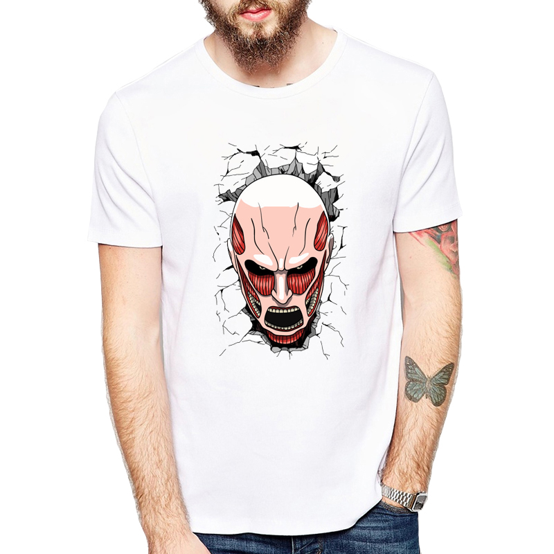 New Arrival Men Brand Trend Anime Attack On Titan Corps T Shirt Short Sleeve Movie Print T-Shirt Hip Hop Good Quality Tees