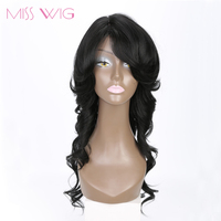 MISS WIG 20Inch Curly Long Wig Synthetic Wigs Black Hair Wigs For Black Women High Temperature