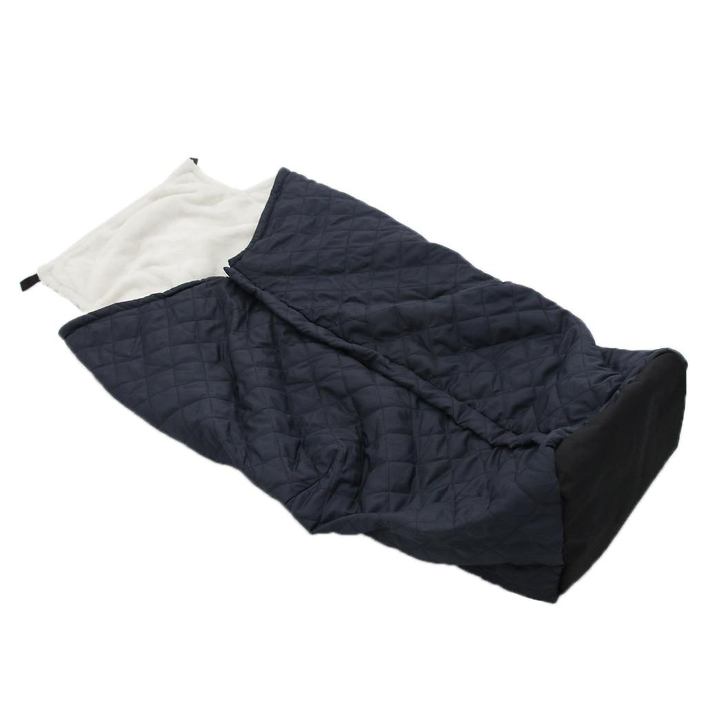Housse de couverture chauffante pour fauteuil roulant sac de couchage pour le bas du corps | Protection coupe-vent/fermeture à glissière design, facile à utiliser et à nettoyer