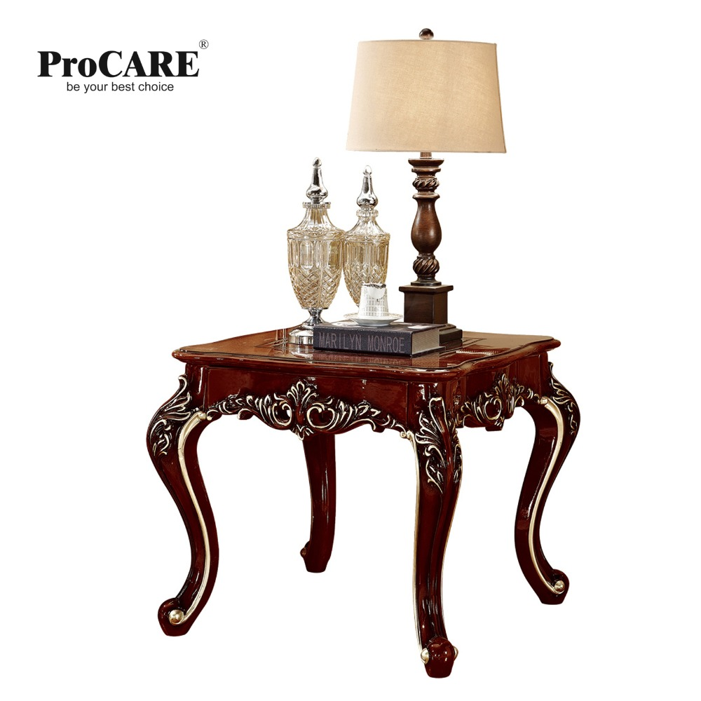 Antique solid wood sofa side table for luxury European style furniture set from Brand ProCARE