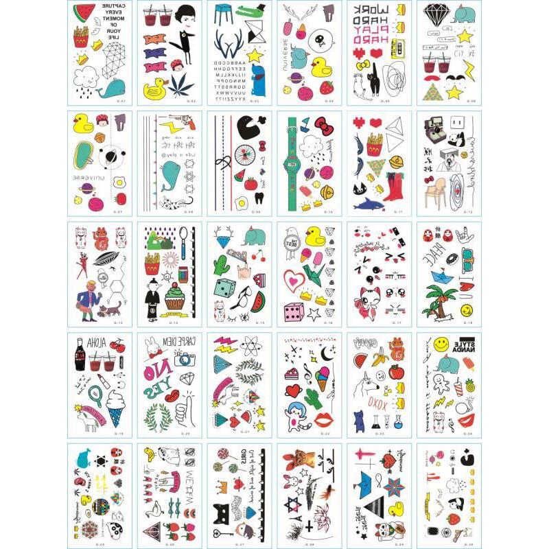 30pcs/lot Temporary Tattoos Sticker Flower Animail Instant Tattoo Body Art Waterproof Arm Fake Tatoo Paper Wholesale Mix Pattern 5