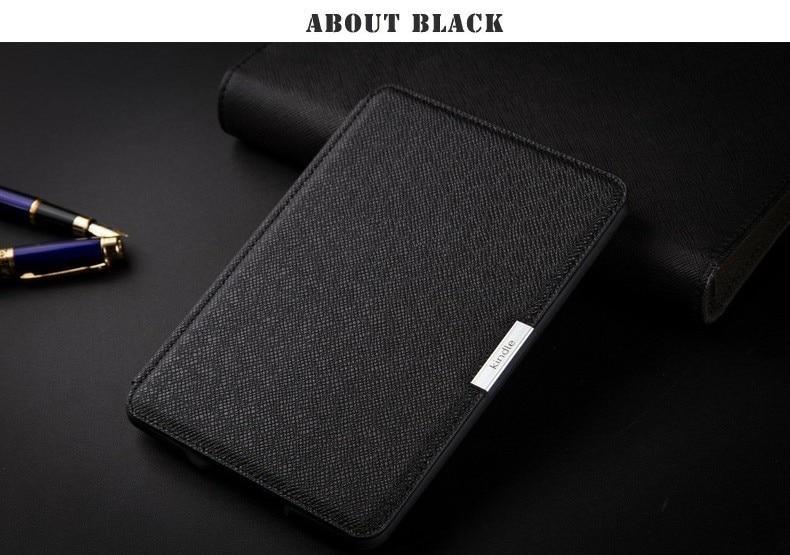 D'origine 1:1 Mince En Cuir Smart Cover Cas Pour la Nouvelle Amazon Kindle Paperwhite, Top qualité + Protecteur D'écran + Tactile Stylet Livraison