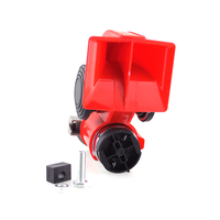 Iztoss Car Motorcycle Truck 12V Red Compact Dual Tone Electric Pump Air Loud Horn Vehicle Siren