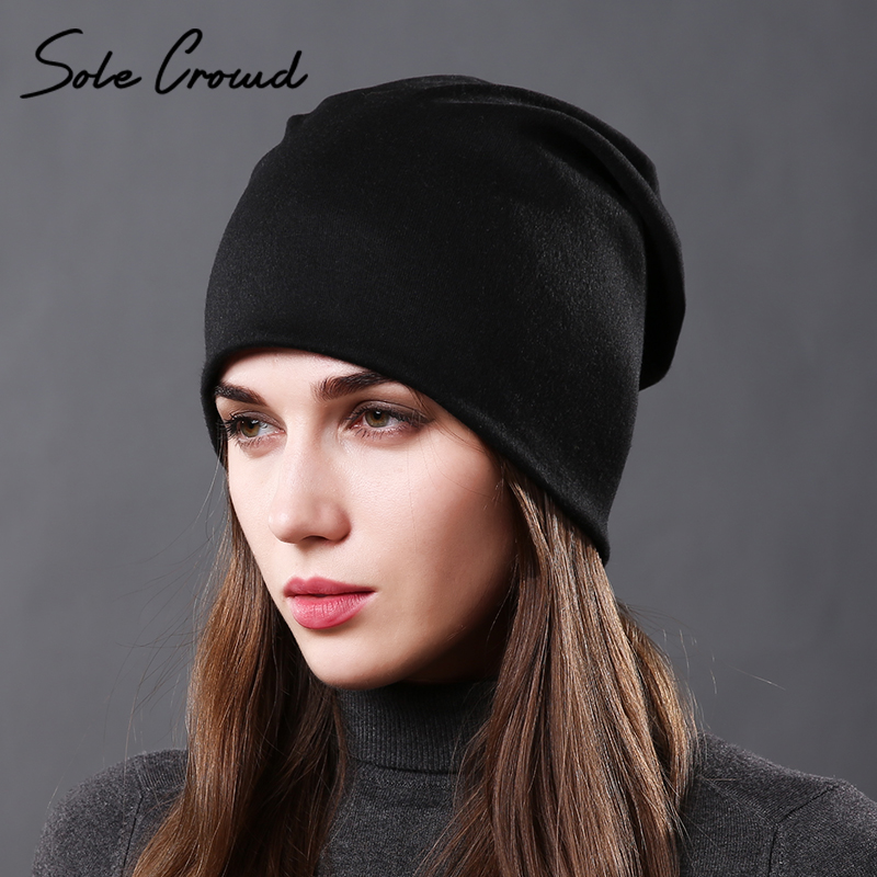 [Sole Crowd] Unisex classic autumn women cotton hats winter warm knitted cap for men fashion female   skullies     beanies   hip hop hat