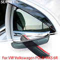 For VW Volkswagen POLO MK5 6R 2010-2016 Car Rearview Mirror Eyebrow Covers Flexible Protection Rainproof Decoration Accessories