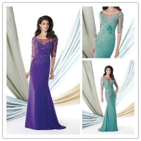 2015 mamá vestido Para la madre De novia elegante turquesa Vestidos ...