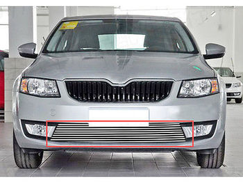 Front Bottom Grill Grid Grille Trim for Skoda Octavia MK3 A7 2015 2016