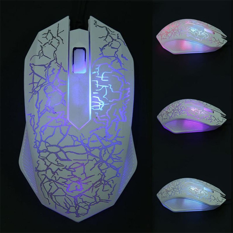 3000DPI Luminous USB Wired Gaming Mouse 3 Buttons LED Computer Mouse Gamer For PC Laptop Notebook