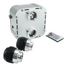 32W RGB Scintillio Doppio Sentito Motore In Fibra Ottica Cielo Stellato Effetto Luci A LED A Soffitto per Tutto il Cavo In Fibra Ottica