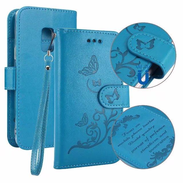 Роскошный кожаный чехол держатель для карт кошелек Съемная флип чехол для Samsung S9 S9plus S8/S8plus чехол