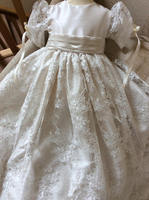 Vintage Soft Toddler Baptism Dresses Christening Baby Gown Top Lace 0 24M +Hats