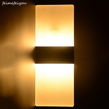 Feimefeiyou 6 ワット 29 センチメートルpir motion検出器 + 光センサーランパーダledライト赤外線人体誘導ランプ壁ランプ