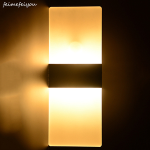 Image 1 - Feimefeiyou 6W 29cm PIR 모션 탐지기 + 빛 센서 lampada Led 빛 적외선 인간의 신체 유도 램프 벽 램프