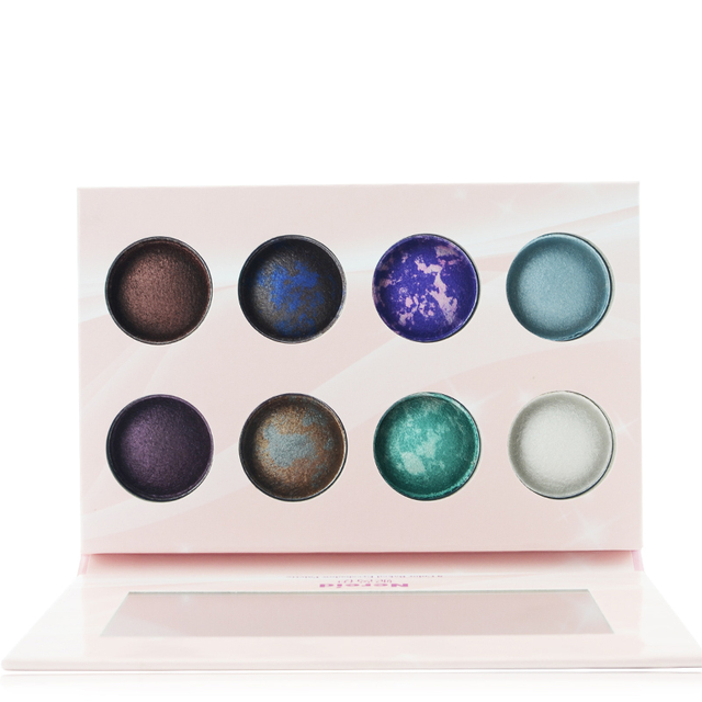 Newest 8 Color Baked Eyeshadow Make Up Palette Cosmetic Matallic Earth Color Shimmer Eyeshadow Makeup Set For Gift 2017