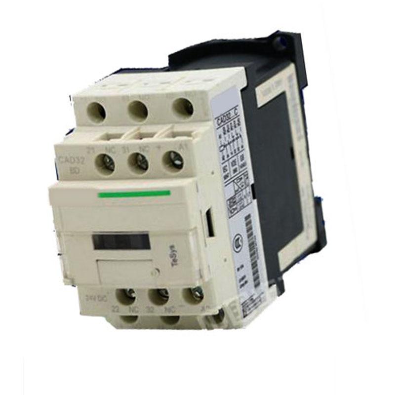 New CAD32BDC DC24V TeSys D series Contactor Control Relay 3NO+2NC lc1d series contactor lc1d09 lc1d09kd 100v lc1d09ld 200v lc1d09md 220v lc1d09nd 60v lc1d09pd 155v lc1d09qd 174v lc1d09zd 20v dc