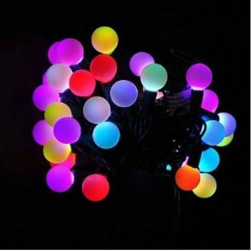 6m 40led ball fairy string light eu plug 220v linkable tail plug black wire christmas wedding xmas party bar decor color change in holiday lighting from